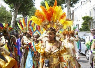 The annual Notting Hill carnival is thought to be Europe's largest street party