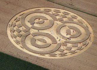The circle in Raisting, upper Bavaria, has a diameter of 246ft and is formed of three rings