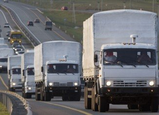 The news of Mykola Zelenec's killing came amid reports that some Russian aid trucks had reached Luhansk without any permission from Ukraine