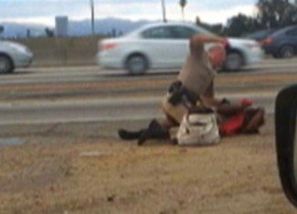 In July 2014, Marlene Pinnock was repeatedly punched in the face and head by a CHP officer at the side of the road