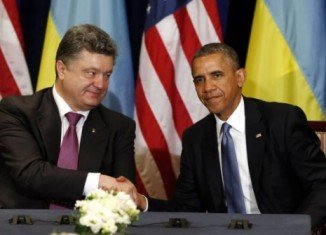 Petro Poroshenko will hold talks with President Barack Obama before addressing a joint session of Congress