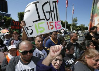 The Los Angeles city council has voted to raise the minimum wage at large hotels to $15.37 per hour