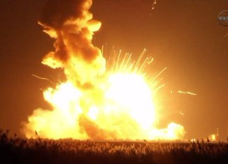 ISS supply rocket Antares has exploded during its launch from NASA base in Virginia