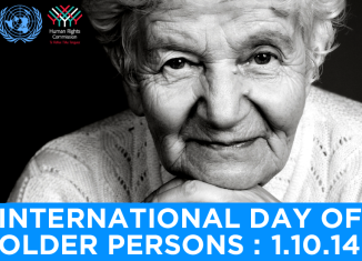 The International Day of Older Persons is celebrated each year on October 1st
