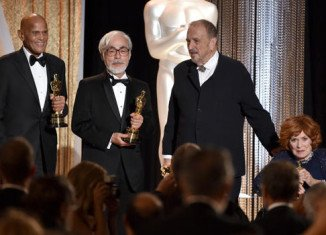 Harry Belafonte, Hayao Miyazaki, Jean-Claude Carriere and Maureen O'Hara have been honored at the Governors Awards in Los Angeles