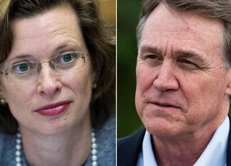 Non-profit executive Michelle Nunn and businessman David Perdue are running for Georgia senate seat left empty by the retirement of Republican Saxby Chambliss