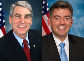 Republican Congressman Cory Gardner hopes to unseat Democratic Senator Mark Udall