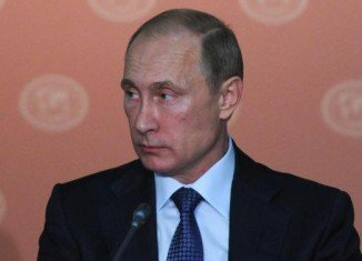 Vladimir Putin revealed his romantic side as he gave a speech at the Russian Geographical Society