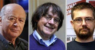 Charlie Hebdo victims: economist Bernard Maris, cartoonists Georges Wolinski and Cabu, editor Stephane Charbonnier and cartoonist Bernard Verlhac