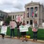 Renoir Sucks Protest at Boston's Museum of Fine Arts